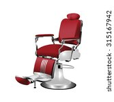 Vector Red  Barber Chair On A...