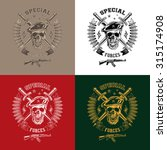 special forces monochrome... | Shutterstock . vector #315174908