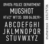 Police Mugshot Board Sign...