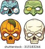 halloween masks. vector clip... | Shutterstock .eps vector #315183266