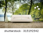 3d Rendering Of A Sofa In Fron...