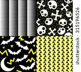halloween patterns | Shutterstock .eps vector #315196526