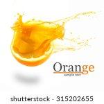orange juice splashes isolated...   Shutterstock . vector #315202655