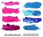 collection of abstract acrylic... | Shutterstock . vector #315203222