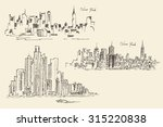 set of sketches of new york ... | Shutterstock .eps vector #315220838
