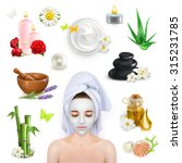 spa  beauty and care vector... | Shutterstock .eps vector #315231785