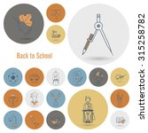 school and education icon set.... | Shutterstock . vector #315258782