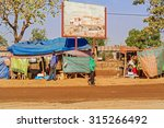 Small photo of Dilla, Ethiopia - February 23, 2015: View at the road traffic in the city of Dilla in Ethiopia.