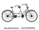 tandem bicycle. retro bike... | Shutterstock .eps vector #315269036