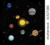 planets and sun from our solar... | Shutterstock .eps vector #31527280