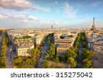 Paris Sunset City View With...