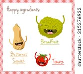 Happy Vegetable Characters Icon ...