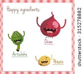 happy vegetable characters icon ... | Shutterstock .eps vector #315278882