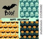 vector halloween holiday... | Shutterstock .eps vector #315283682