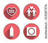 condom safe sex icons. lovers... | Shutterstock .eps vector #315287576