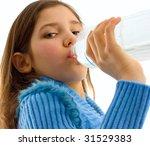 portrait of cute teen girl... | Shutterstock . vector #31529383