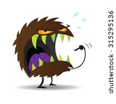 scary monster with green teeth... | Shutterstock .eps vector #315295136