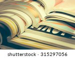 stack of magazines | Shutterstock . vector #315297056