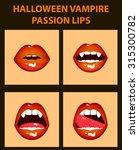 halloween vampire set of 4 sexy ...   Shutterstock .eps vector #315300782