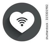 love wifi sign. wi fi symbol....