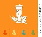 glass of beer. oktoberfest beer ... | Shutterstock .eps vector #315320015