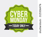 cyber monday deals design ... | Shutterstock .eps vector #315336476