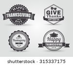 happy thanksgiving badges and... | Shutterstock .eps vector #315337175