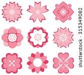 pink symbols flower | Shutterstock .eps vector #315349082