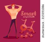 men look at smart. and health... | Shutterstock .eps vector #315351086
