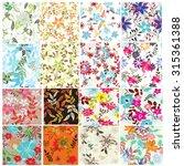 floral seamless pattern set  ...   Shutterstock .eps vector #315361388