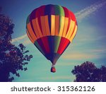 hot air balloons in the sky... | Shutterstock . vector #315362126
