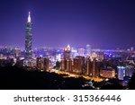 city skyline of taipei  taiwan... | Shutterstock . vector #315366446
