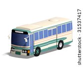 rendering of a bus with... | Shutterstock . vector #31537417