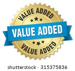 value added 3d gold badge with... | Shutterstock .eps vector #315375836