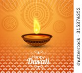 happy diwali illustration ... | Shutterstock .eps vector #315376352