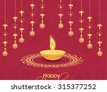 vector illustration for diwali... | Shutterstock .eps vector #315377252