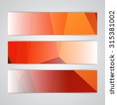 modern red vector banner low... | Shutterstock .eps vector #315381002
