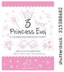 invitation for princess... | Shutterstock .eps vector #315388682
