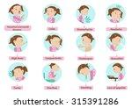 sick characters set of children ... | Shutterstock .eps vector #315391286