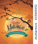 halloween poster | Shutterstock .eps vector #315405452