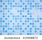 Blue Colored Mosaic Background...