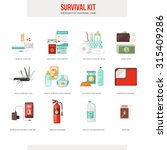 survival emergency kit for... | Shutterstock .eps vector #315409286