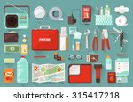 survival emergency kit for... | Shutterstock .eps vector #315417218