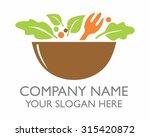 a bowl of healthy salad cartoon ...   Shutterstock .eps vector #315420872