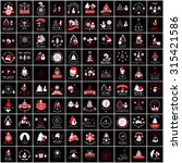christmas icons and elements... | Shutterstock .eps vector #315421586