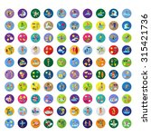summer flat icons set  vector... | Shutterstock .eps vector #315421736