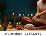 happy young woman receiving... | Shutterstock . vector #315433952