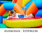 excited kids having fun on... | Shutterstock . vector #315436136