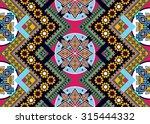 geometric ethnic pattern... | Shutterstock .eps vector #315444332