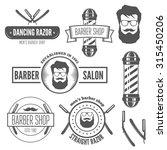 set of vintage logo  badge ... | Shutterstock .eps vector #315450206